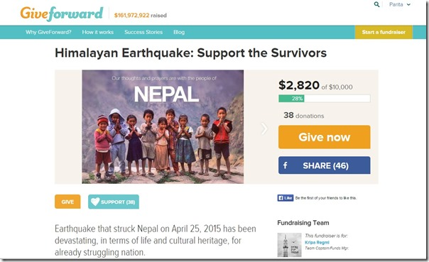 Help Nepal Fundraiser