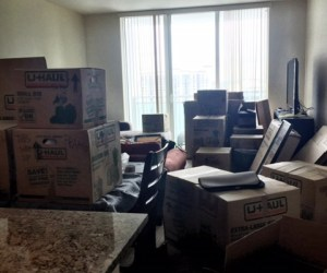 Packing chaos in small apartment