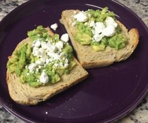 Avocado toast on sourdough with feta