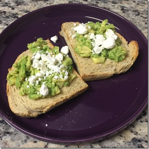 Avocado toast with feta