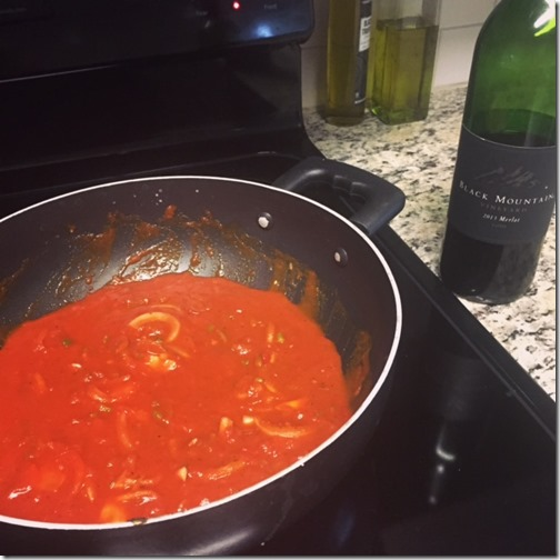 Cooking hack with wine