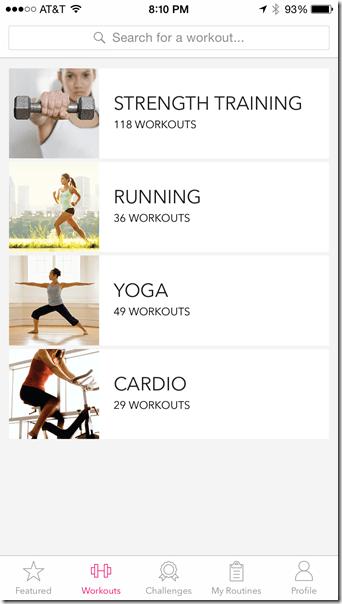 Popsugar Active app