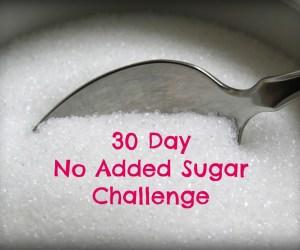 30 Day No Added Sugar Challenge