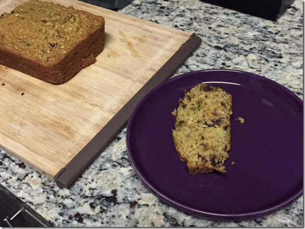 Chocolate Chip Zucchini Banana Bread Round 2