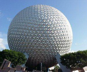 Epcot sphere full view
