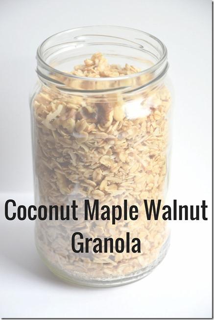 Coconut Maple Walnut Granola
