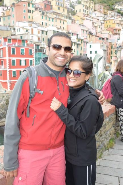 Couple in Cinque Terra, italy