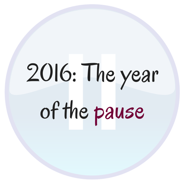 2016 is the year of the pause