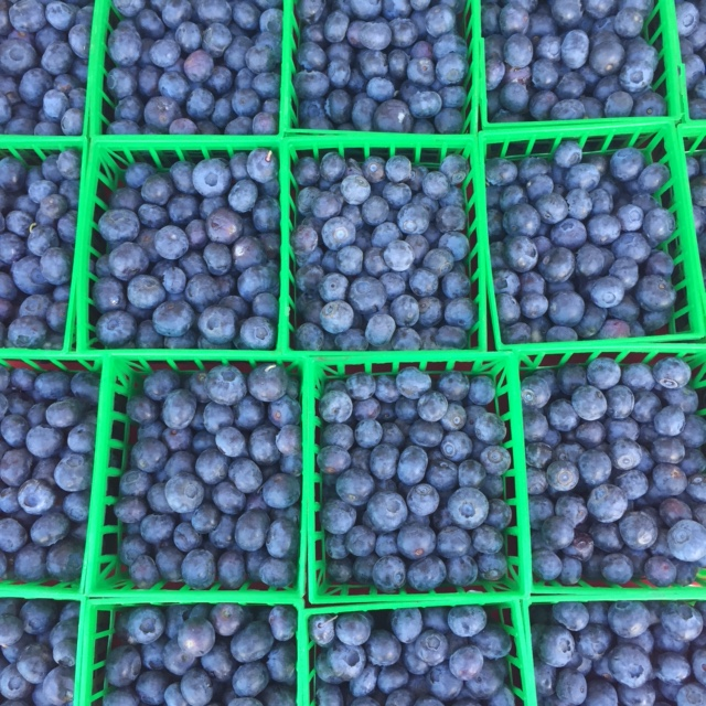 Farmer's Market blueberries