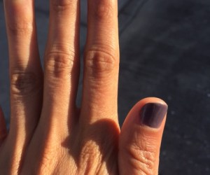 Essie purple gel manicure