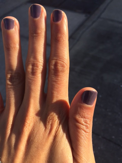 Essie purple gel manicure