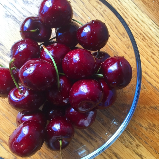 Fresh summer cherries