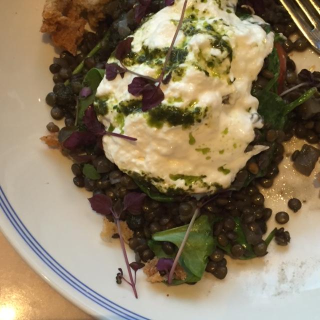 Granger and Co. in London - Puy Lentil Dish - Vegetarian