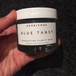 Pregnancy Acne + Herbivore's Blue Tansy Face Mask