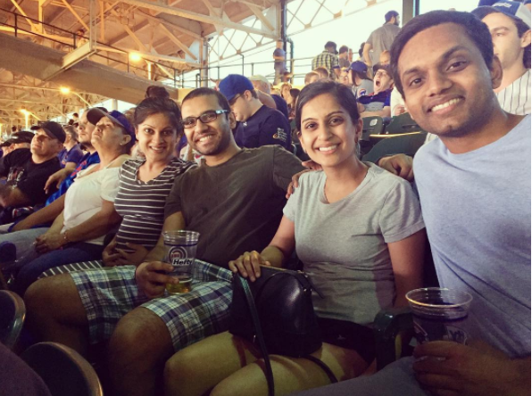 Family time at Cubs game 2017