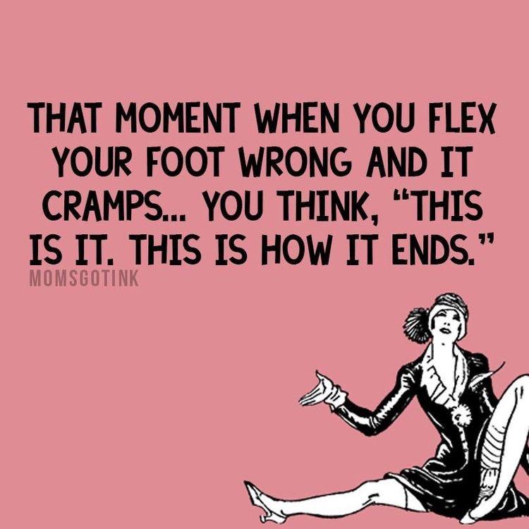 pregnancy humor - foot cramp
