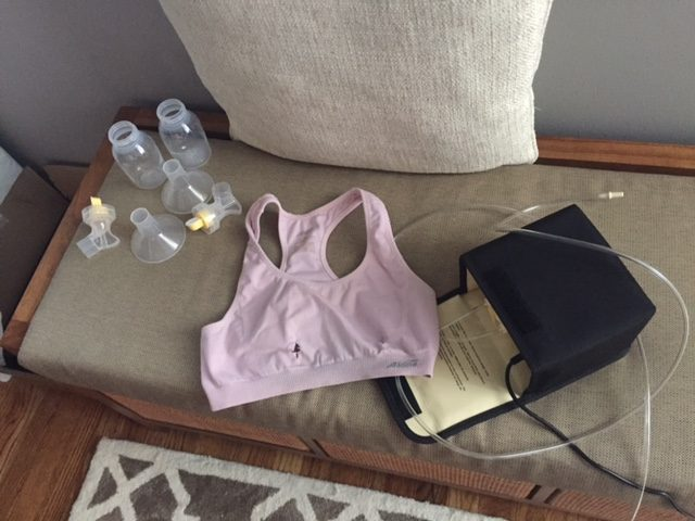 DIY hands free pumping bra