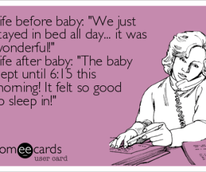 sleeping in as new parents cartoon