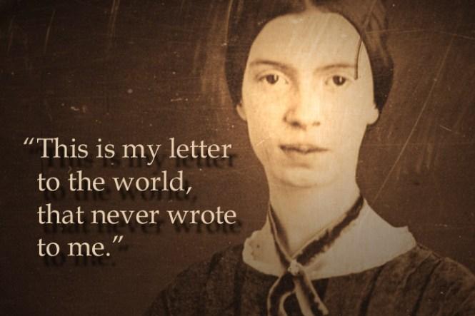 Een foto van Emily Dickinson uit 1847 op ca. 3445jarige leeftijd, uit het archief van het Amherst College. Via: Wikimedia Commons.