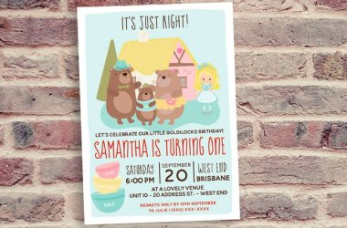 Goldilocks Birthday Invitation