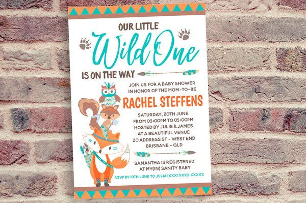 Wild One Invitation