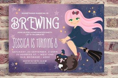 Birthday Witch Invitation