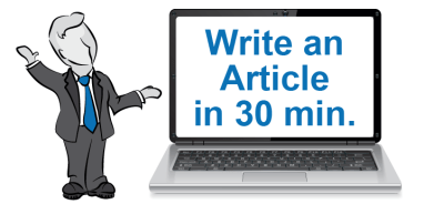 Learn how to write articles for your blog in 30 minutes.