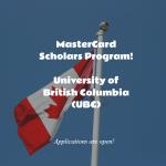 University of British Columbia (UBC) MasterCard Foundation Scholars Program