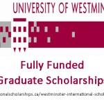 University of Westminster International Graduate Scholarships