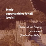 Beijing Government Scholarships
