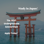 MEXT (Japanese Government) Undergraduate Scholarships