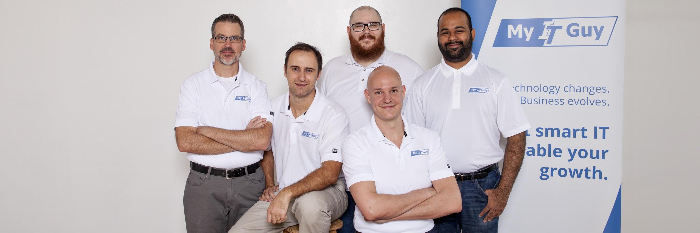 Group shot of all 5 My IT Guy team members
