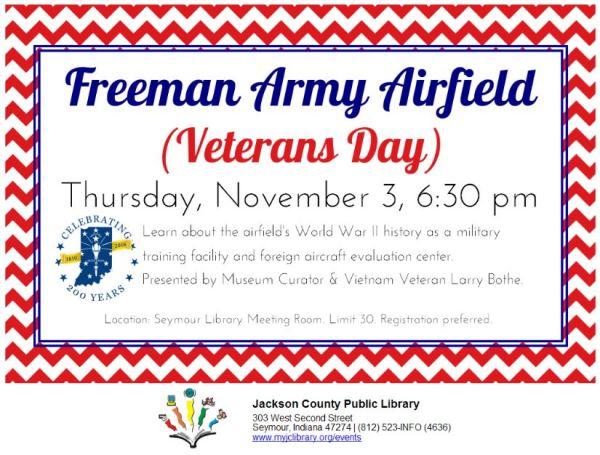 Freeman Army Airfield – Jackson County Public Library