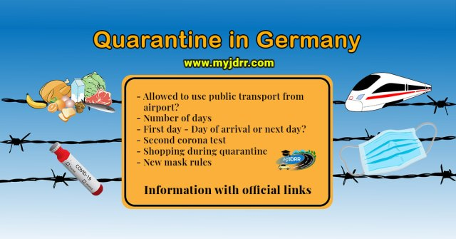 Quarantine in Germany - My experience - Allowed to use public transport to reach home? - Number of days - First day - Day of arrival or the next day? - Shopping during the quarantine - New mask rules
