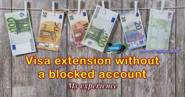 Visa extension without a blocked account for students