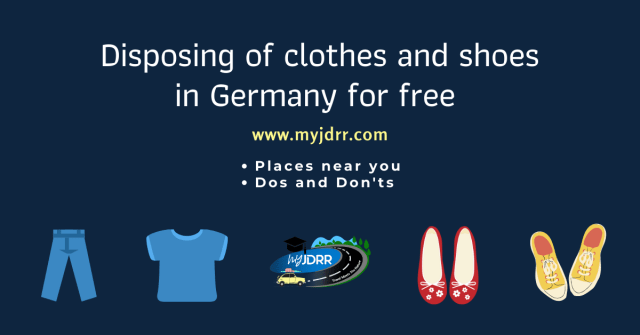 Disposing of clothes and shoes in Germany for free