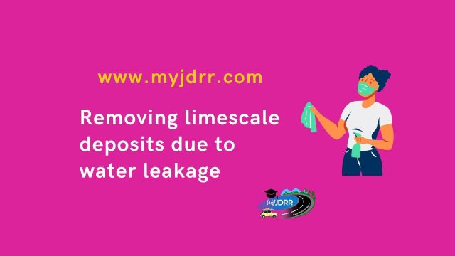 Removing limescale deposits due to water leakage