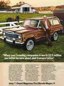 Jeep Grand Wagoneer 1983 Advertisement
