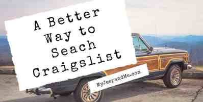 A Better Way to Search Craigslist using this google search trick