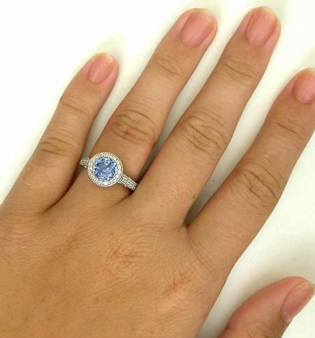 Diamond Halo Ring With Filigree Detail Featuring Over 2