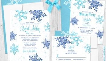 winter wonderland bat mitzvah invitation suite my jewish party
