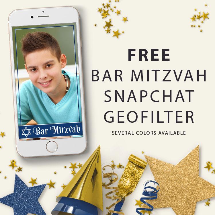 Bohemian Violet Bat Mitzvah Snapchat Filter Personalized Digital GeoFilter File