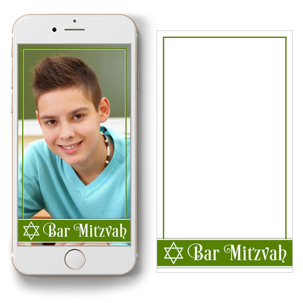 free green and white Bar Mitzvah Snapchat geofilter