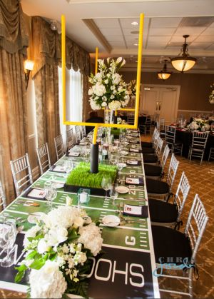 Football reception decor example