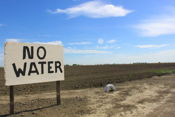 fallow field with no water sign