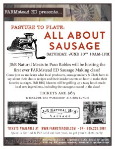 Pasture to Plate: All About Sausage @ J&R Natural Meats | Paso Robles | California | United States
