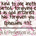 Perfection vs. Grace {Week 6: Marriage & Mommyhood}