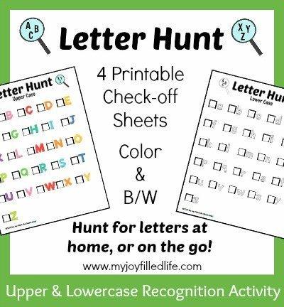 Letter Hunt Graphic