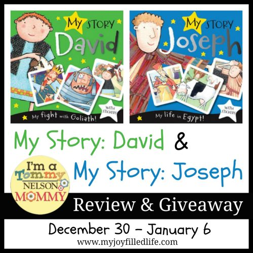 My Story: David & My Story: Joseph Children's Book review and giveaway