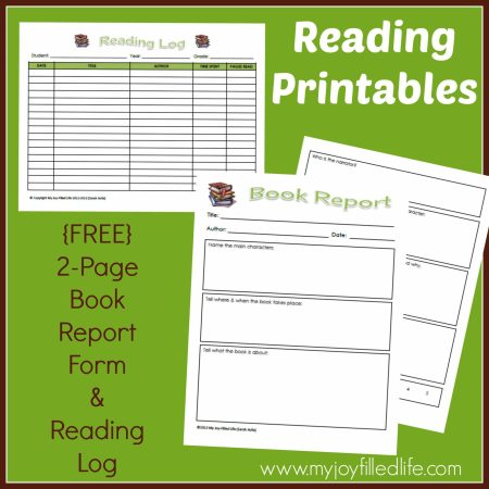 Reading Printables graphic
